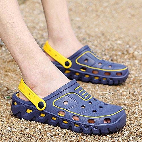 Xing Lin Flip Flop De La Playa Verano Hombres Zapatillas De Uso Doble Cabezal Semi-Remolque Sandalias Cool Agujero Antideslizante Shoes Sandalias Casual Masculino Arrastre 699 blue