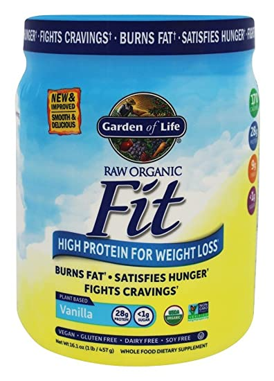 Garden Of Life RAW Fit High Protein For Weight Loss, Vanilla 14.8 Oz (420