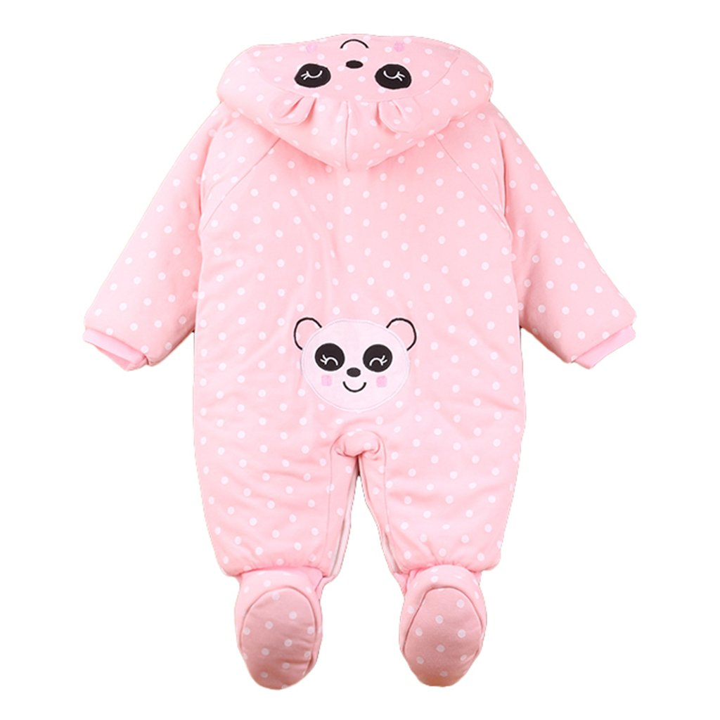 Baby Rompers with Footies Hat Boys Girls Cotton Jumpsuit Infant Winter Outfits Set 9-12 Months