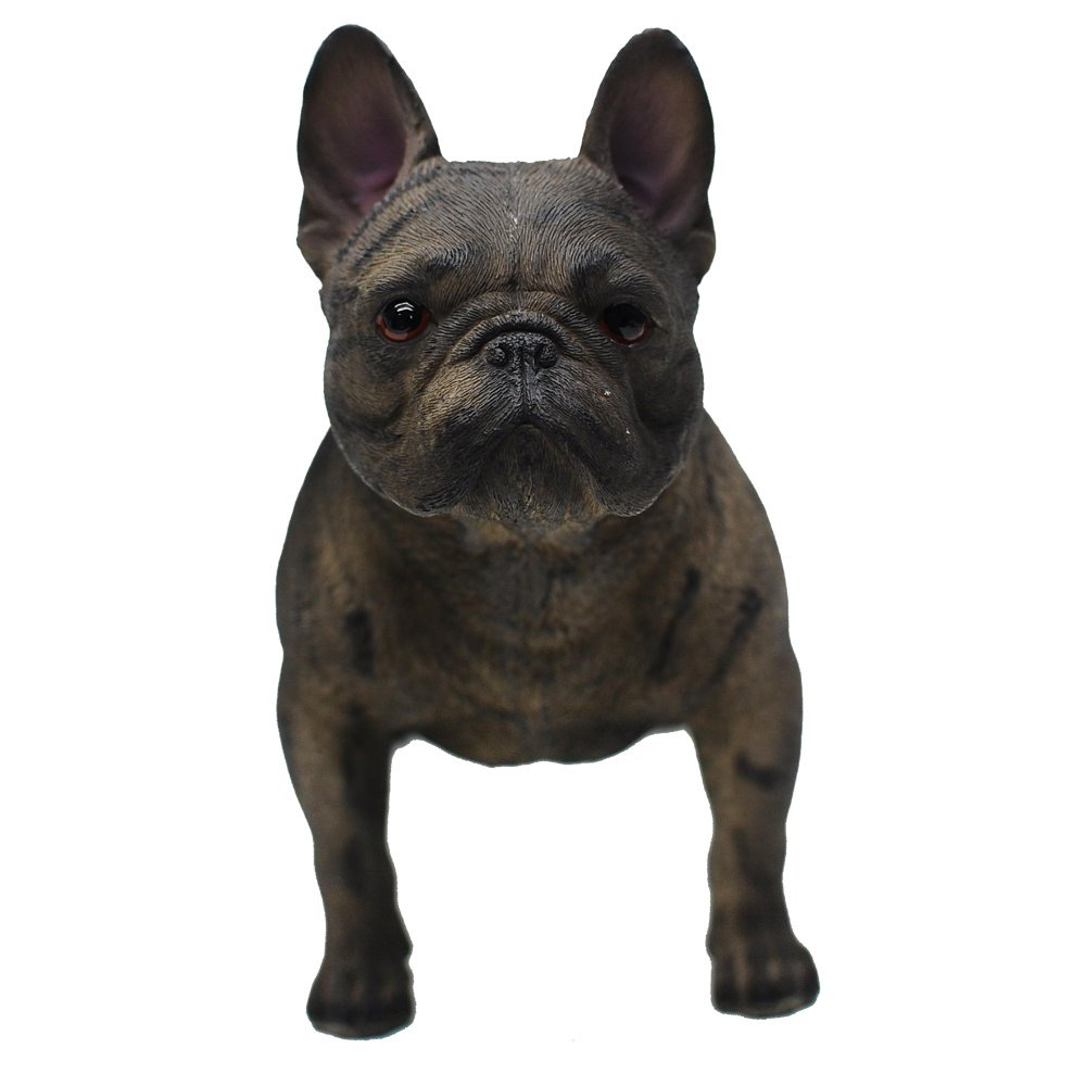 "Comfy Hour 6"" Standing Dog French Bulldog Figurine, Home Decoration Gift for Dog Person, Black"