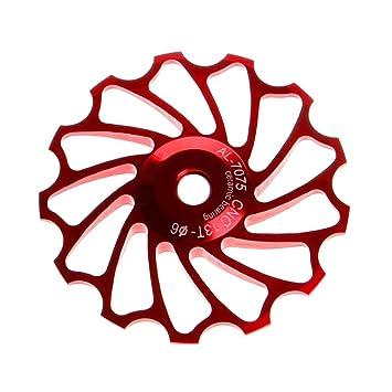 VORCOOL Rueda de Bicicleta 13T Desviador Trasero Rodamiento de cerámica Aleación de Aluminio CNC MTB Desplazador