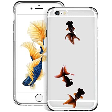 Amazon.com: Carcasa transparente para iPhone 6s 6, color ...