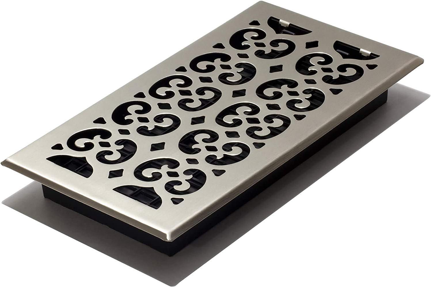 Decor Grates SPH612-NKL Floor Register, 6x12, Nickel Finish