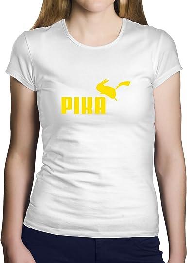 OKAPY Camiseta Pikachu. Una Camiseta de Mujer Para los Fans de Pokemon. Camiseta Friki de Color Blanca: Amazon.es: Ropa y accesorios