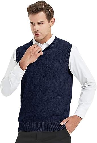 TopTie Jersey casual de algodón Hombre Invierno sin Mangas con ...