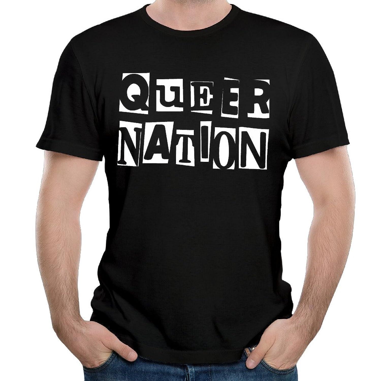 Maria Black Men's O-neck Shirts Queer Nation Logo