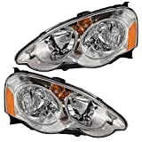 2002 rsx headlight assembly - Driver and Passenger Headlights Headlamps Replacement for Acura 33151-S6M-A01 33101-S6M-A01