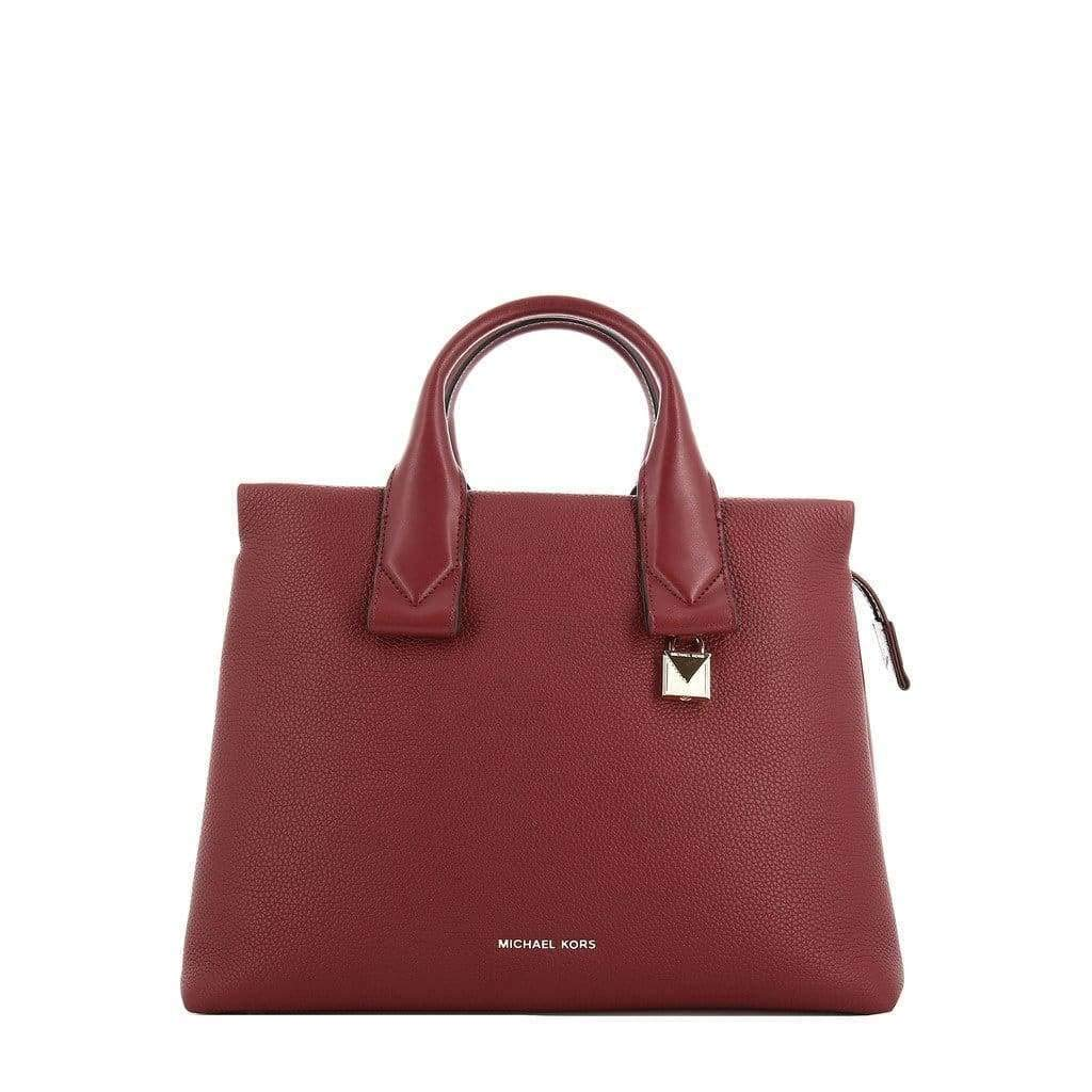 Michael Kors Borsa Rollins Lg Satchel leather maroon: Amazon
