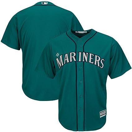 17147be98 VF Seattle Mariners MLB Mens Majestic Alternate Cool Base Replica Aqua  Jersey Big   Tall Sizes