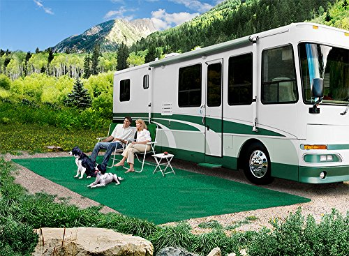 Prest-O-Fit 2-0150 RV Trailer Camper Outdoor Living Patio Rug Green 6'X15' (Fit Rug O Patio Prest)