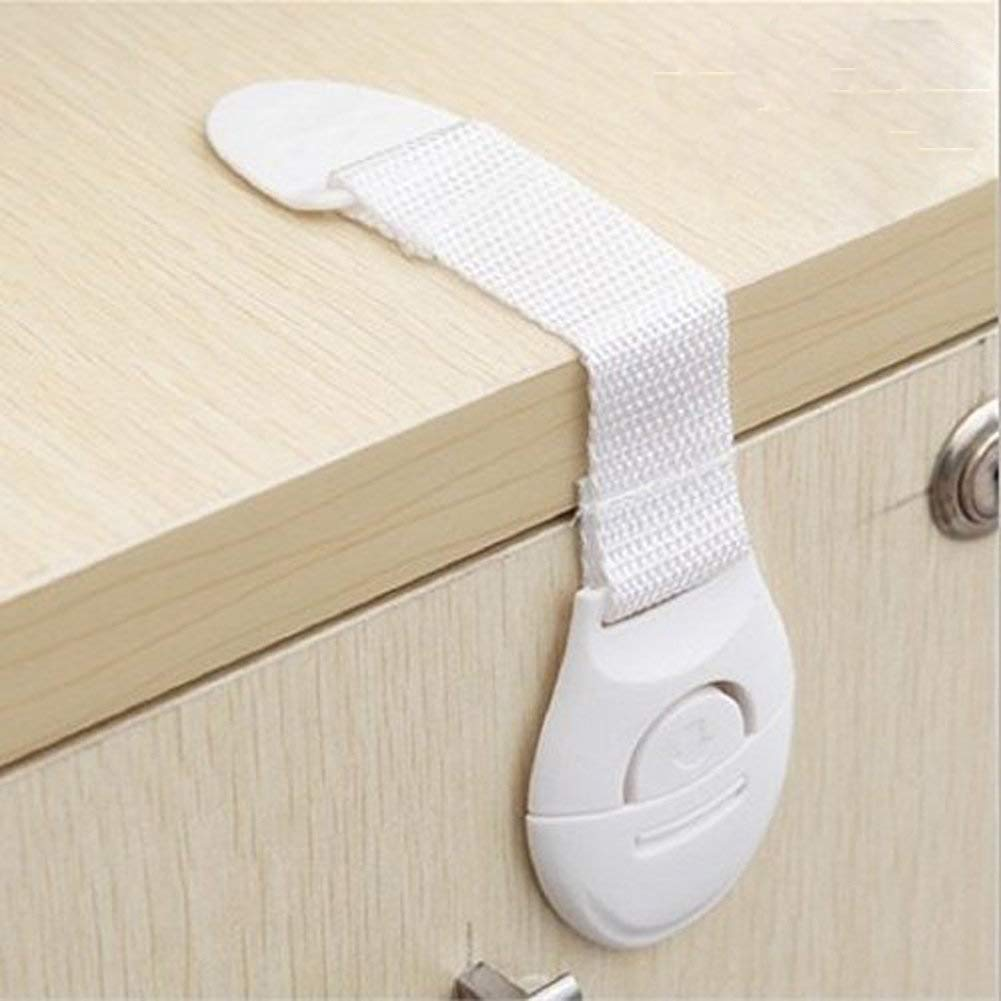 Hosaire Baby Safety Locks 6 Pcs - Child Proof Cabinets, Drawers, Appliances, Toilet Seat, Fridge, Oven Tools -Not Required - Multi-Purpose Use