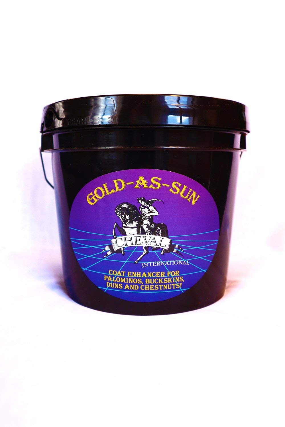 GOLD-AS-SUN Horse Coat Enhancing Supplement for Palominos and Buckskins 4lbs by GOLD-AS-SUN