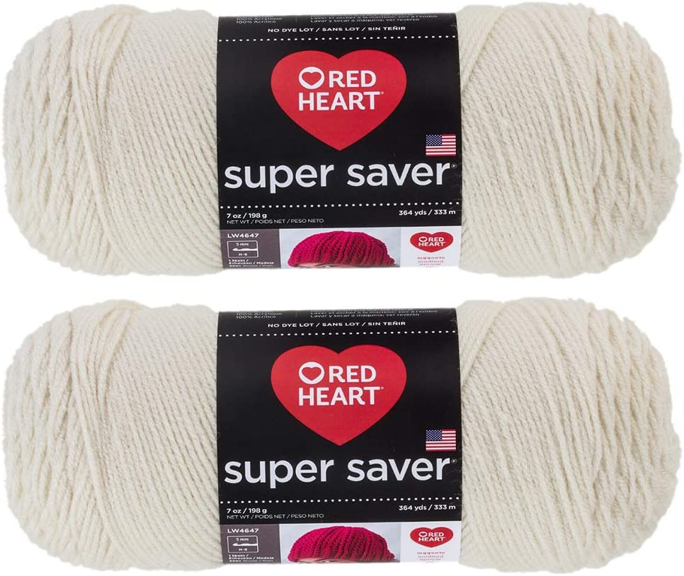 Bulk Buy: Red Heart Super Saver (2-pack) (Aran, 7 oz each skein)