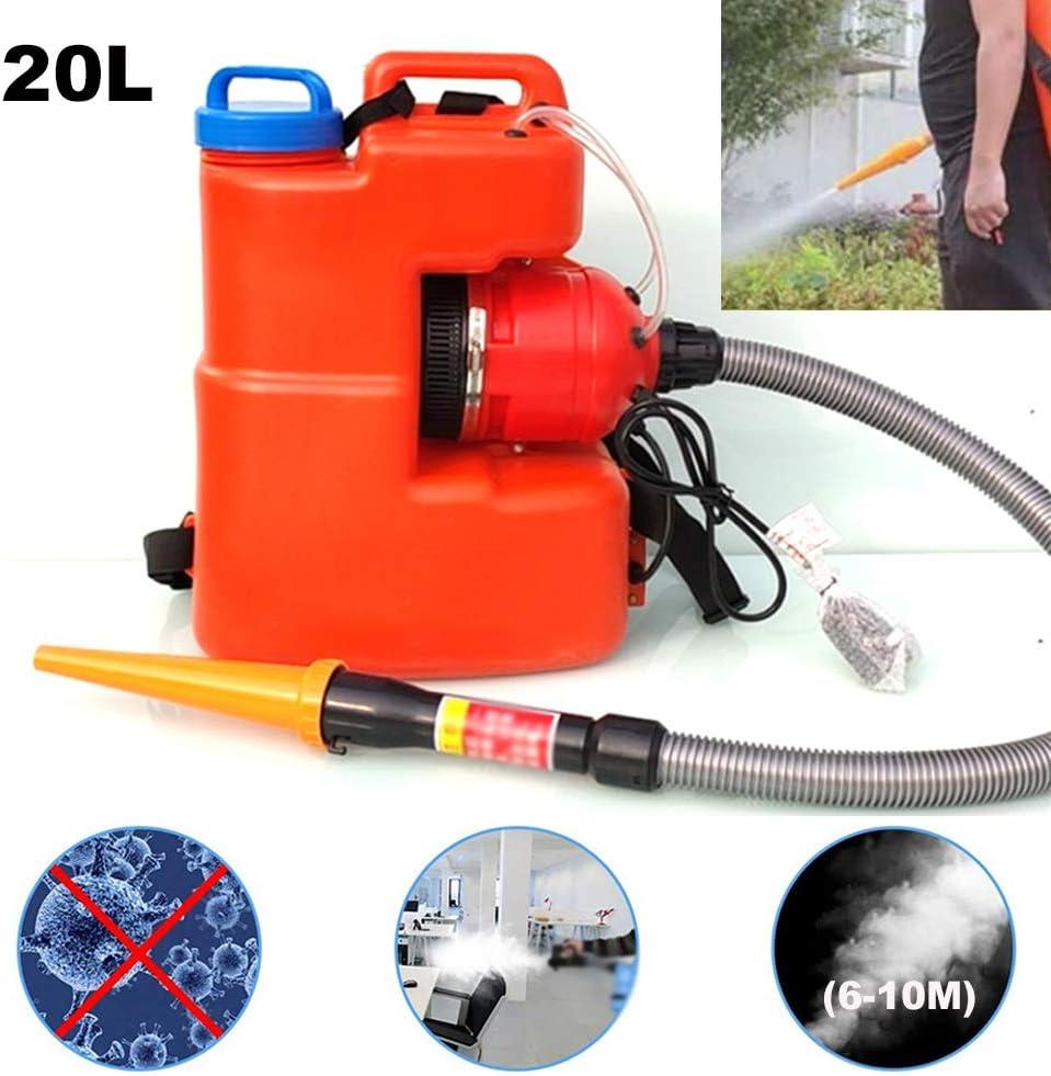 LSHOME ULV Fogger Portátil Eléctrico 20L Rociador de Desinfección de Mochila de Niebla para Interiores Exteriores Lugares Públicos Oficina Industrial