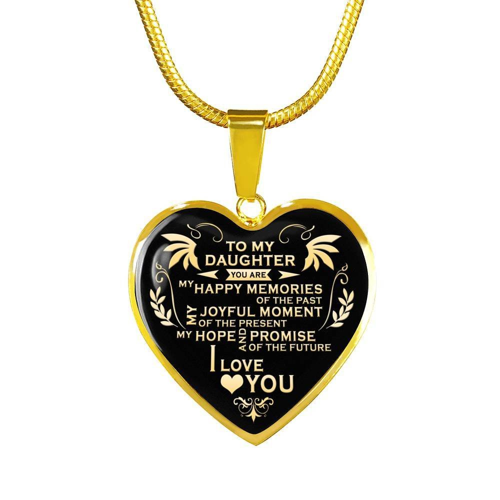 LIMITED VERSION Xmas Custom New Arrival Quote HOT TREND Best teen/ jewelry/ for/ girls on birthday you are my hope and promise of the future to my/ daughter/ necklace jewelry/ for/ girls