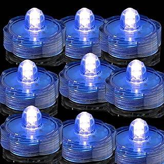 TDLTEK Submersible Led Lights - Tea Lights - for Wedding,Special Events, 36 Pack Blue