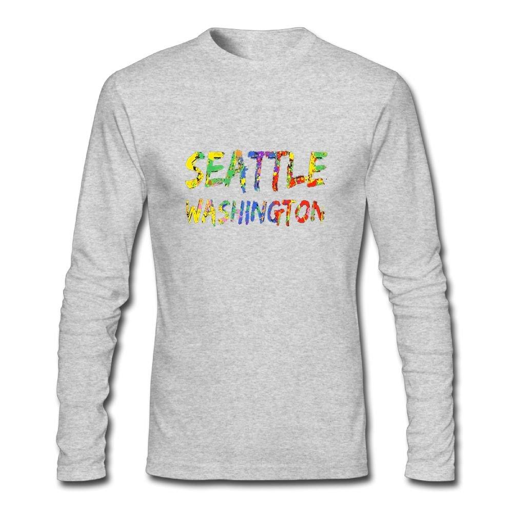 Amazon Hongxiong Neck Long Sleeve Cotton T Shirt For Men