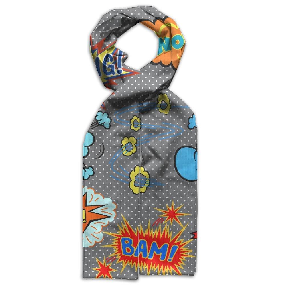DGYEG44 Different Comics Printing Scarf Kids Warm Soft Fashion Scarf Shawl For Autumn Winter