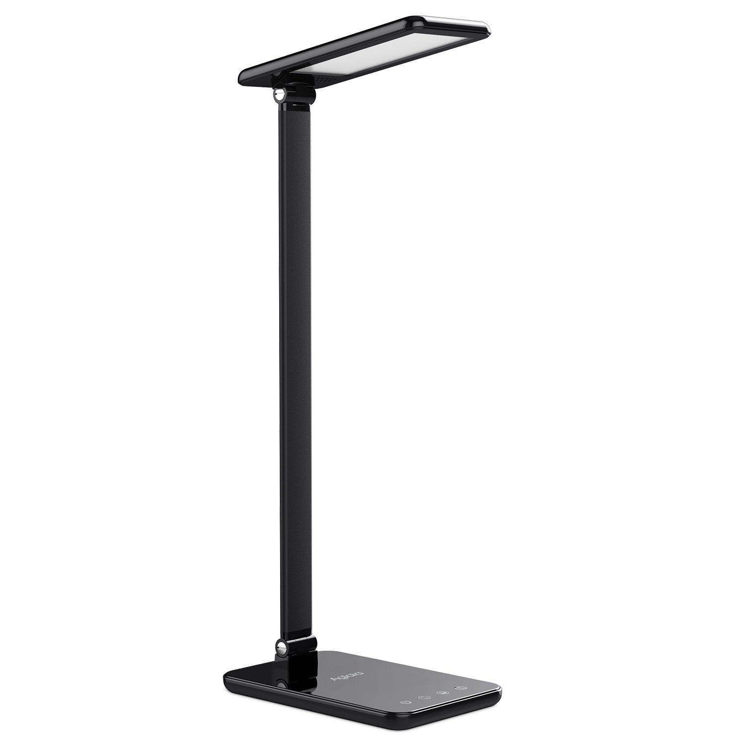 LED Desk Lamp 8W, Aglaia Eye-Caring Table Lamps with Dimmable Touch Control, Stepless Brightness Levels and Lighting Modes, Aluminum Alloy ARM, 1-Hour Auto Timer, Memory Function