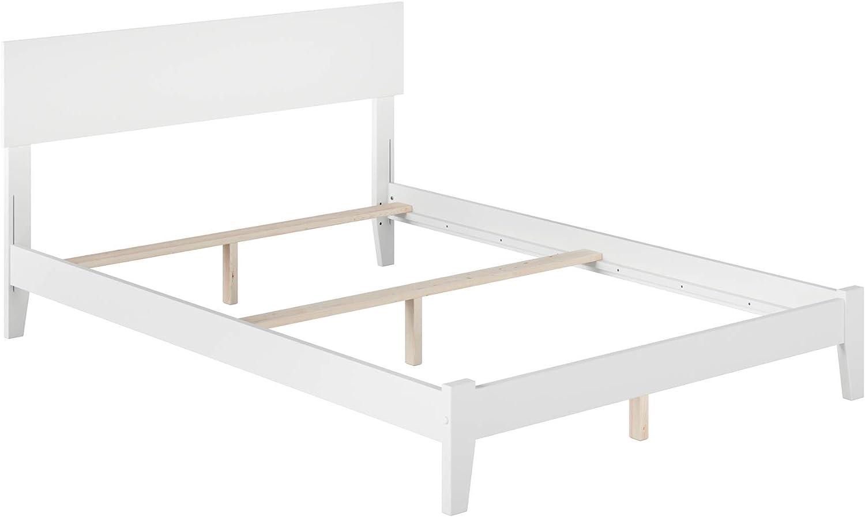 Atlantic Furniture Orlando Traditional Bed, Full, White