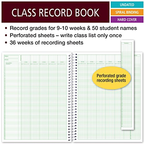 50 Names R1010 Class Record Book for 9-10 Weeks