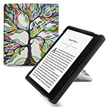 WALNEW Amazon Kindle Oasis Stand Case Cover-Ultra Lightweight PU Leather Smart Cover for 7 inch Kindle Oasis 2017, 9th Generation (Lucky Tree 1)