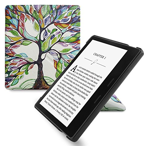 Walnew Amazon Kindle Oasis Stand Case Cover Ultra Lightweight Pu Leather Smart Cover For 7 Inch Kindle Oasis 2017  9Th Generation  Lucky Tree 1