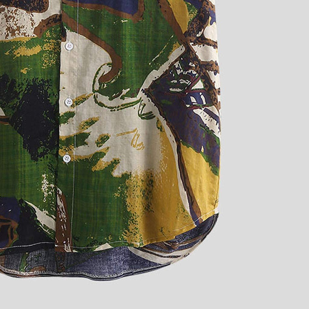 丨Camicia Hawaiana da Uomo丨xinxinyu Motivo Estivo Stampa Pulsante Casuale Funky Manica Corta personalit/à Stampa Maglietta Eleganti,M-3XL