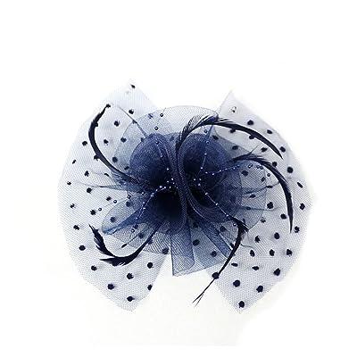 AJOG Femmes Fascinator Hair Clip Fleur Couvre-Chefs Bandeau Noël Derby De Mariage Cocktail Tea Party Chapeau Casemate
