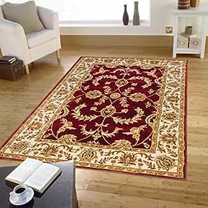 Alfombra clasica ziegler rojo alfombra barata salon 716 - Alfombras dormitorio amazon ...