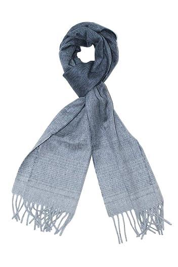 Wool Angora Scarf ALLAA 18761: Navy