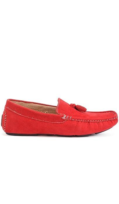 Reservoir Shoes Mocasines con borlas Walter Rojo Hombre Colección Primavera/Verano: Amazon.es: Zapatos y complementos