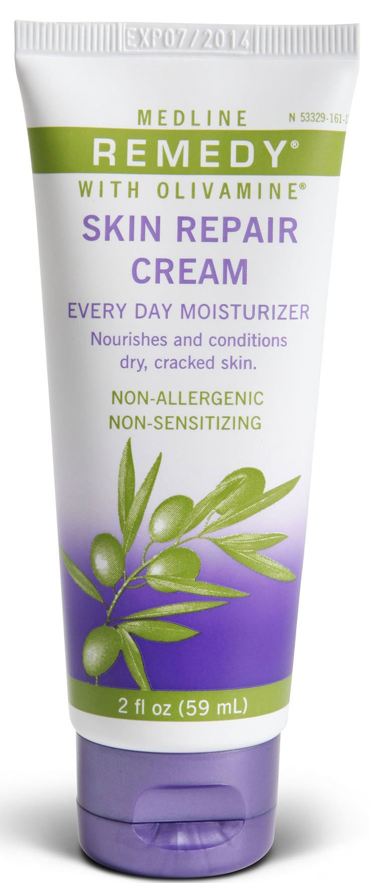 Medline Remedy Olivamine Skin Repair Cream, Off White, 24 Count by Medline