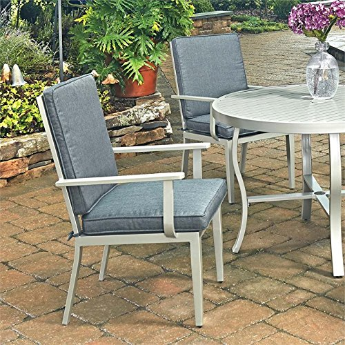 Arm Style Cushion Chair - Home Styles 5700-802 South Beach Outdoor Patio Pair of Arm Chairs, Gray