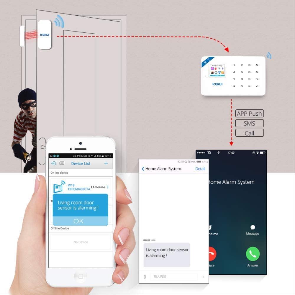 Ring Video Doorbell Pro Android iOS App sans Fil GSM Syst/ème Dalarme /À Domicile Sim Smart Home Cambrioleur S/écurit/é WiFi IP HD Cam/éra Syst/ème Dalarme Kit 1