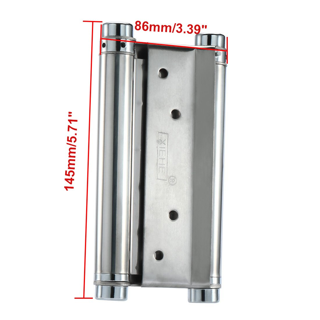 ZXHAO Cafe Saloon Door Swing Self Closing Double Action Spring Hinge 2pcs (5 inch) by ZXHAO (Image #2)