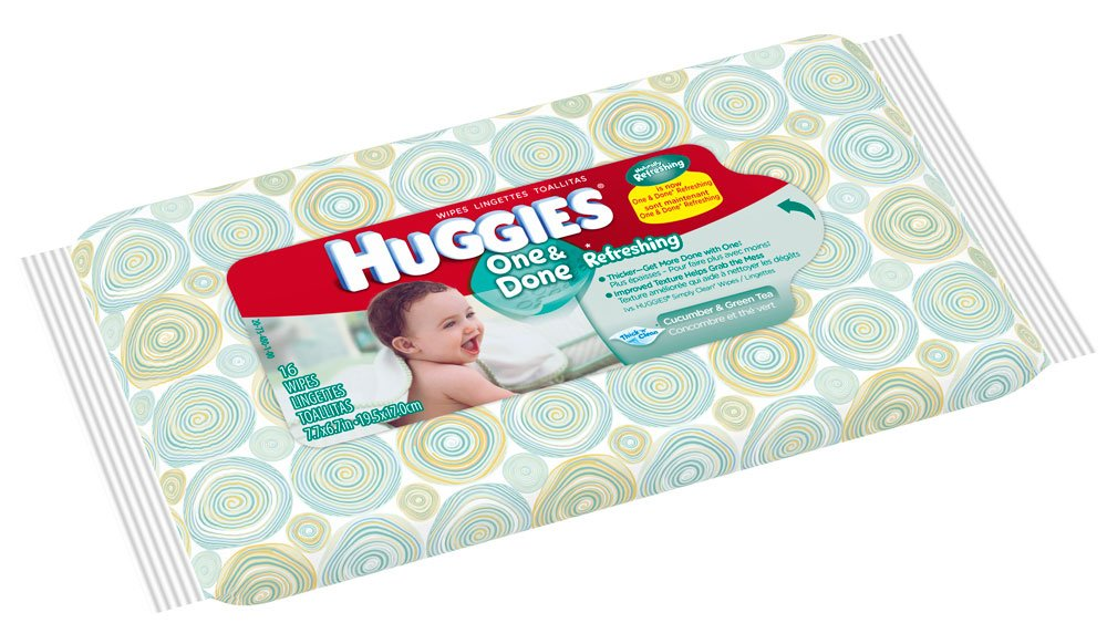 Amazon.com: Huggies Naturally Refreshing Baby Wipes-16-Wipes Per Bag-Travel Pack with Cucumber & Green Tea: Health & Personal Care