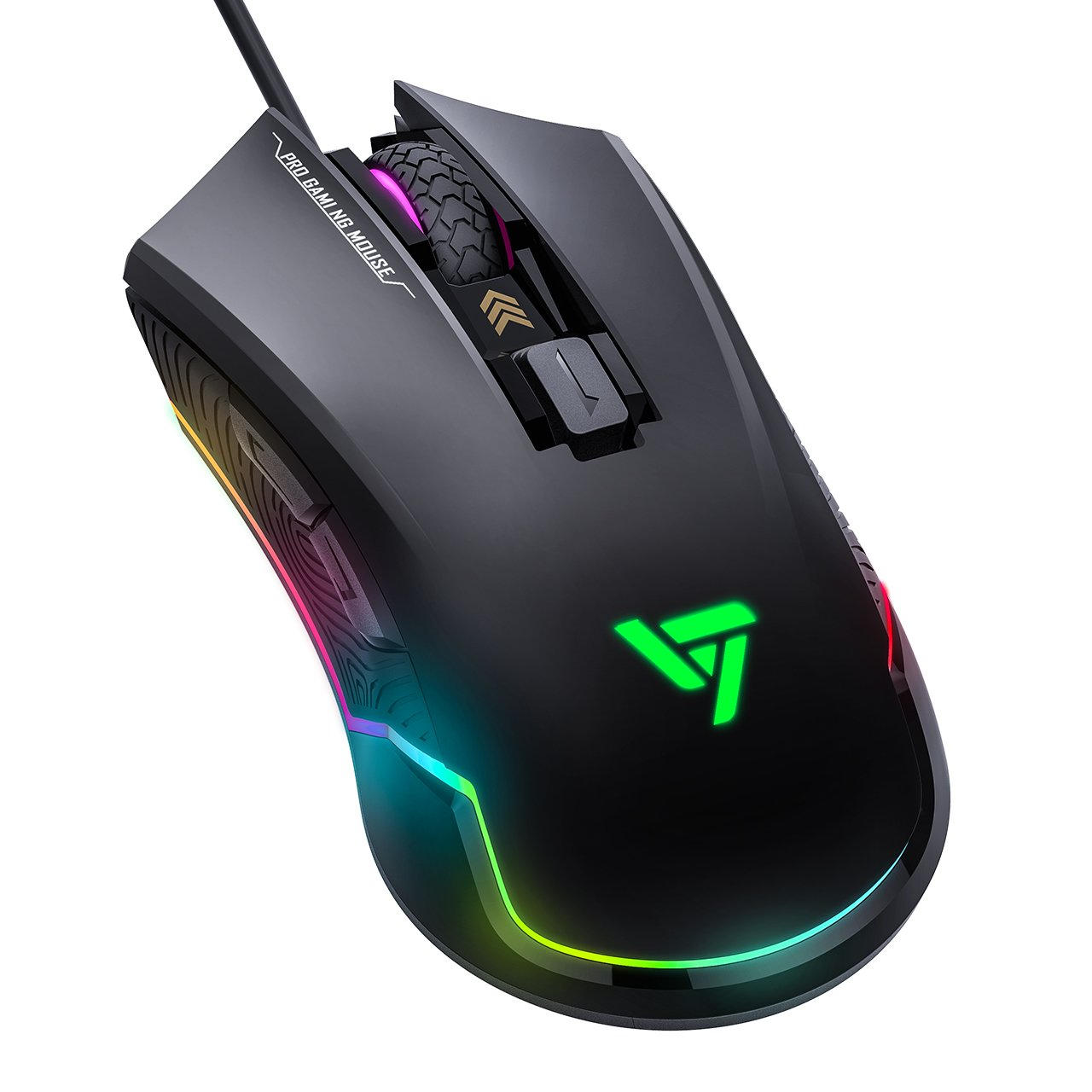 VicTsing Pro RGB Gaming Mouse Wired with 16 8 Million Chroma RGB