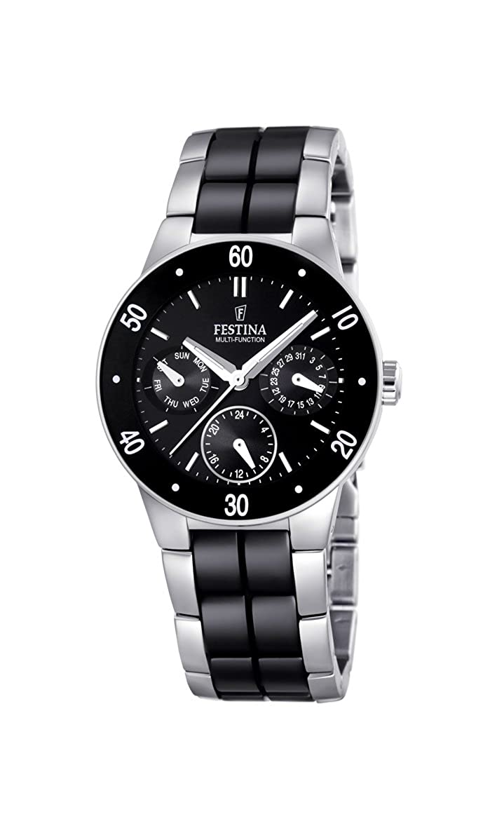 Amazon.com: Festina Unisex F16530/2 Silver Stainless-Steel Quartz Watch with Black Dial: Festina: Watches