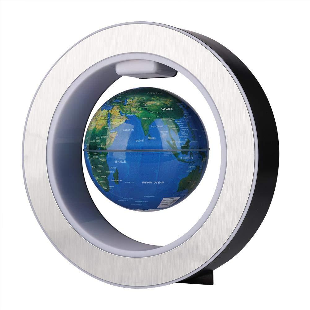 Globo Flotante de Wocume EU Plug Globo de Mapa Mundial Giratorio de levitaci/ón magn/ética con decoraci/ón de luz LED