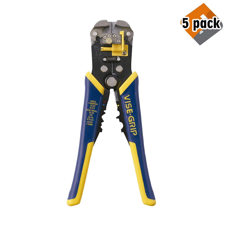IRWIN VISE-GRIP 2078300 Self-Adjusting Wire Stripper, 8'' (5 Pack)