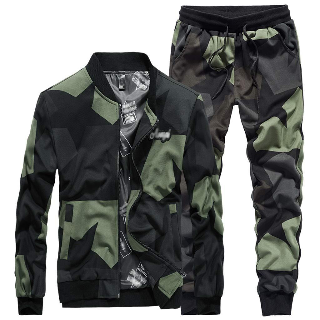 Camouflage Suit, Winter Herren Casual Zweiteilige Military Tooling Kragenjacke Gerade Taille Hosenanzug Atmungsaktiv Dschungel Versteckte Jagd Sport Klettern Reiten (größe : 4XL)