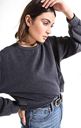 c5b07d212d2f10 Z SUPPLY The Oversized Fleece Pullover Sweater at Amazon Women s Clothing  store