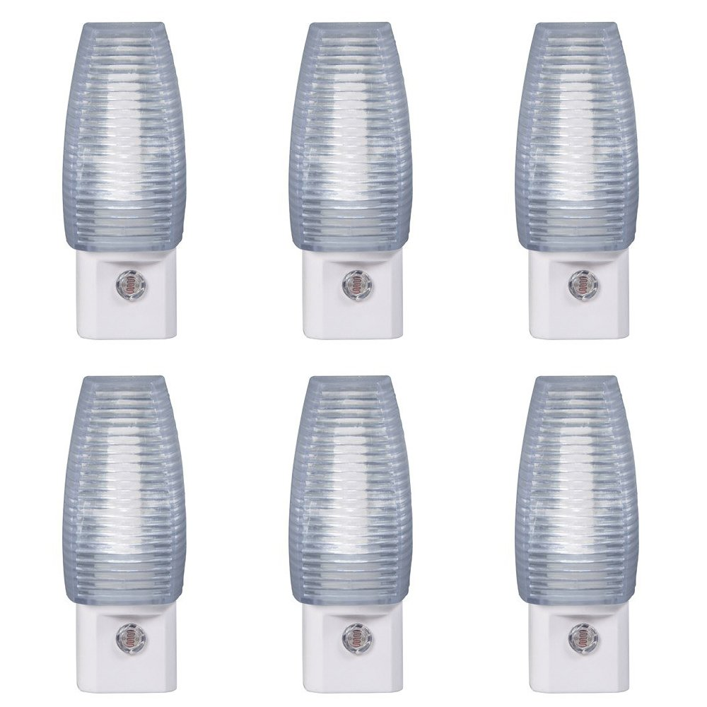 Set of 6 Amerelle LED自動on / offセンサーFaceted Hall Night Lightsエネルギー効率的な B01NBMQWOU 13276