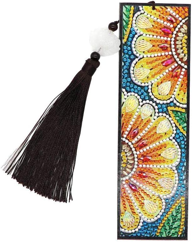 Ywoow DIY Diamond Painting Embroidery Bookmark Special Drill Shaped Rhinestone Craft, DIY Diamond Painting Bookmark