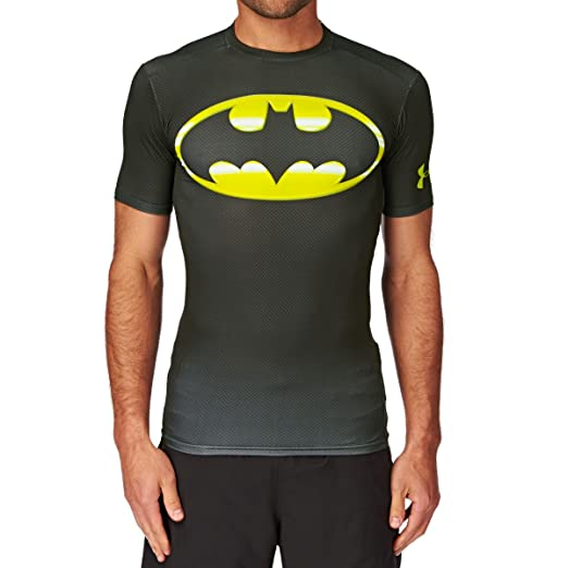 Under Armour Alter Ego 2.0 Compression Base Layer Top Small Black Hi Vis Yellow
