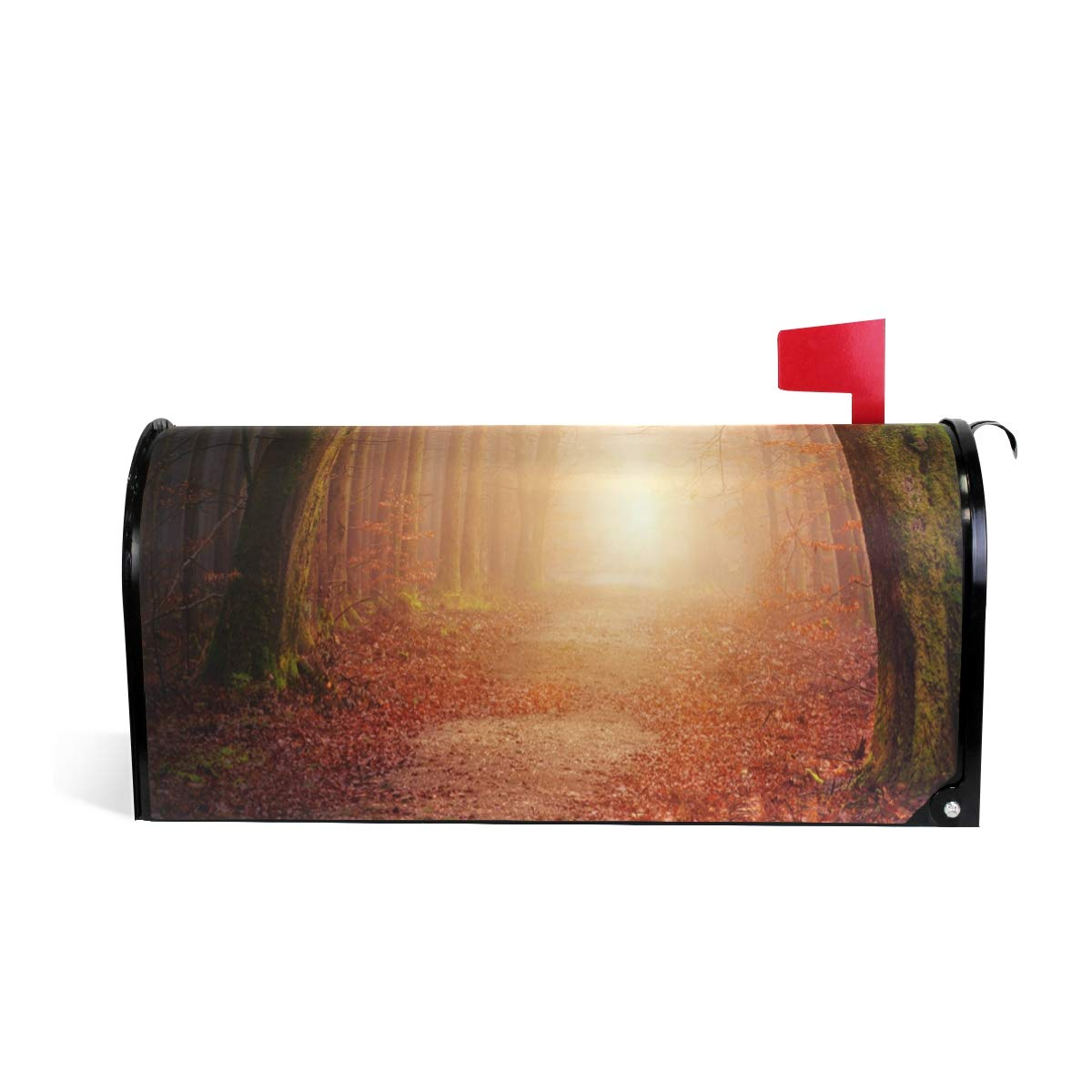 HEOEH Nature Forest Trees Sun Light Magnetic Mailbox Cover Home Garden Decorations Oversized 25.5 x 20.8 inches