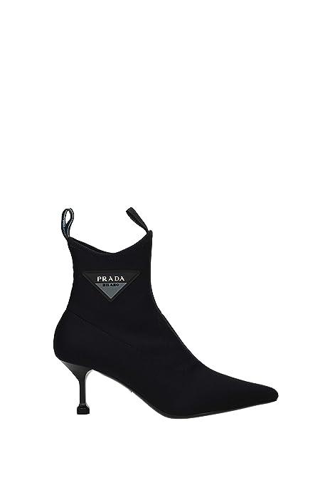 b34790f0c9 Prada Ankle Boots Women - Fabric (1T983INEOPRENE) UK: Amazon.co.uk ...