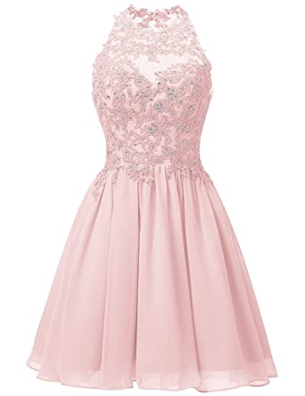 Review Cdress Short Homecoming Dresses Chiffon Appliques Bodice Junior Prom Dress Cocktail Gowns