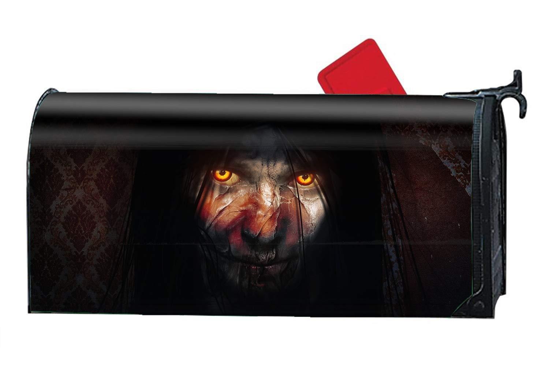 Verna Christopher Dark Eye Macabre Horror Yellow Eyes Woman Custom Mailbox Covers Magnetic Mailbox Wrap Great Garden Decor